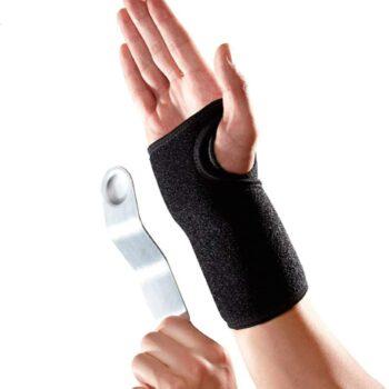 Håndledsstøtte med skinne