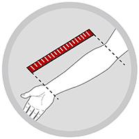 Justerbar armslynge til arm i fintmasket net