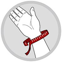 Håndledsbandage neopren med 2 skinner og 4 velcrolukning