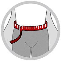 Rygbandage med kompression og elastikstropper