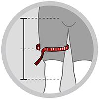 Lårbandage med kompression i neopren