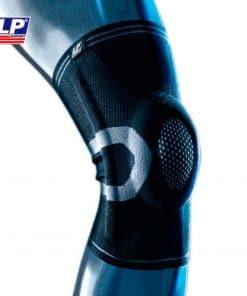 Knæbandage / Knæstøtte med stålfjedre | 3-lags vævet materiale | LP-170XT