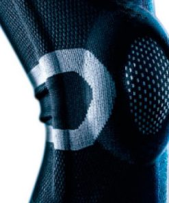 Knæbandage med stålfjedre | 3-lags vævet materiale | LP-170XT