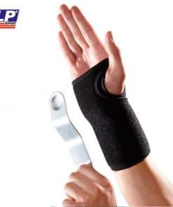 Håndledsbandage med skinne og velcrolukning. Skinnen kan tages ud | LP-521CA