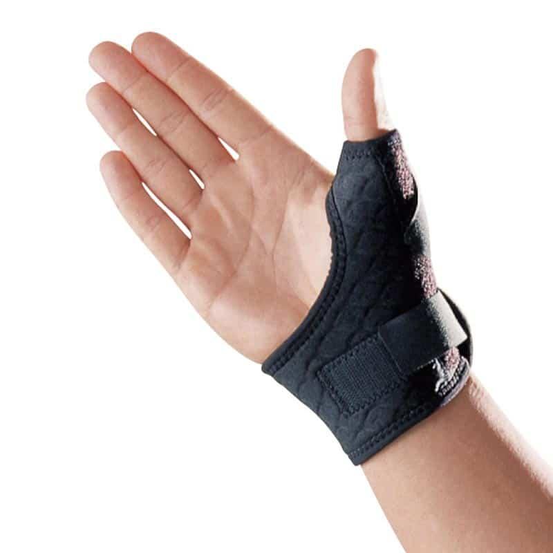 Image of Tommelfingerbandage med skinne og elastikstrop