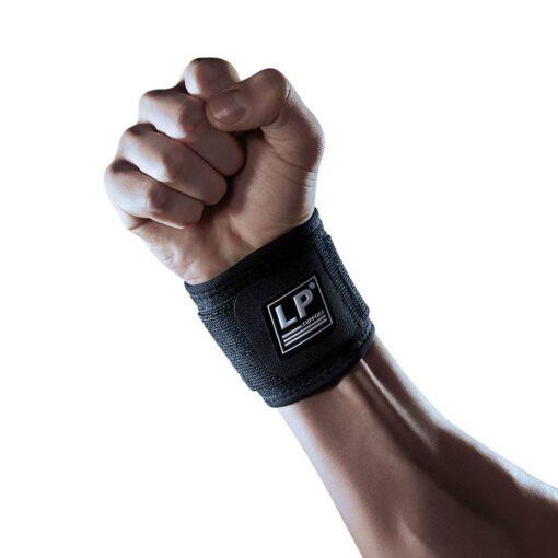 Håndledsstøtte med kompression og elastrikstrop