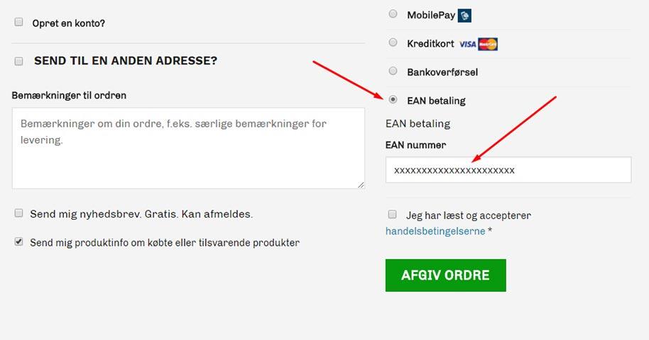 Nu kan der betales med EAN numre på bandageshoppen.dk