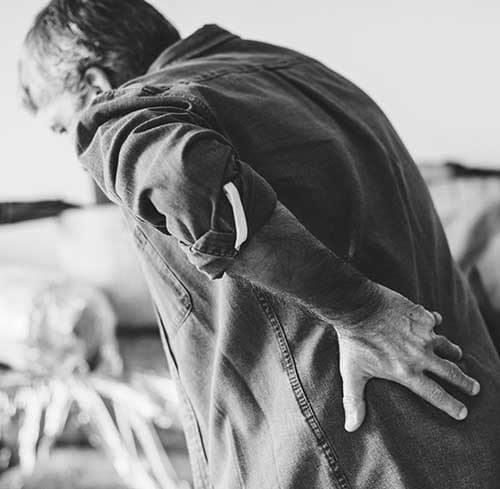 Rygstøtte til rygsmerte