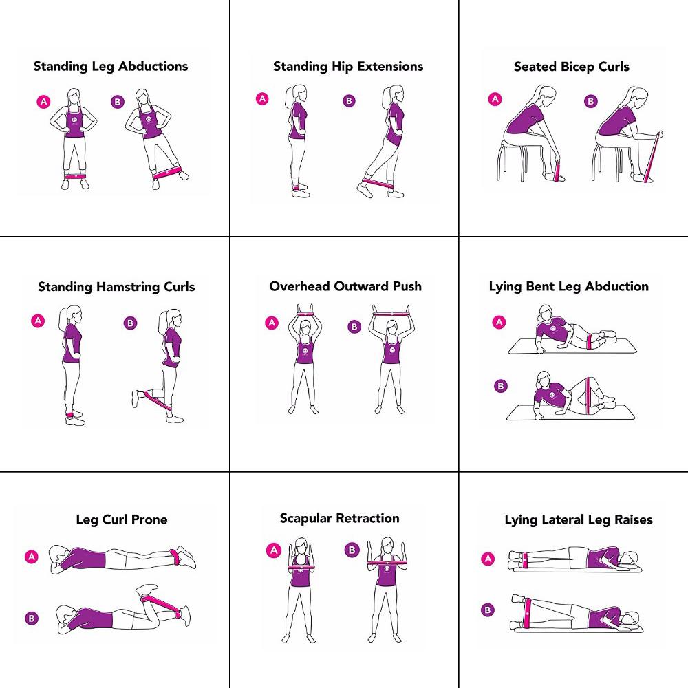 Træningselastikker 5-pak 6