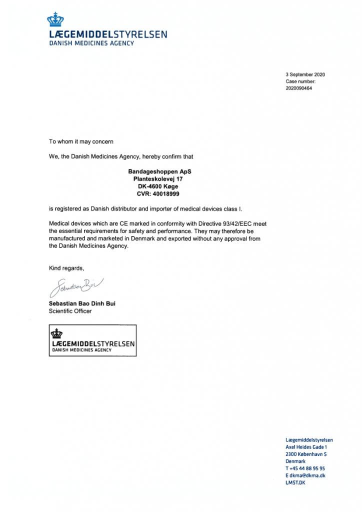 Specialerklæring på registrering hos Lægemiddelstyrelsen 1