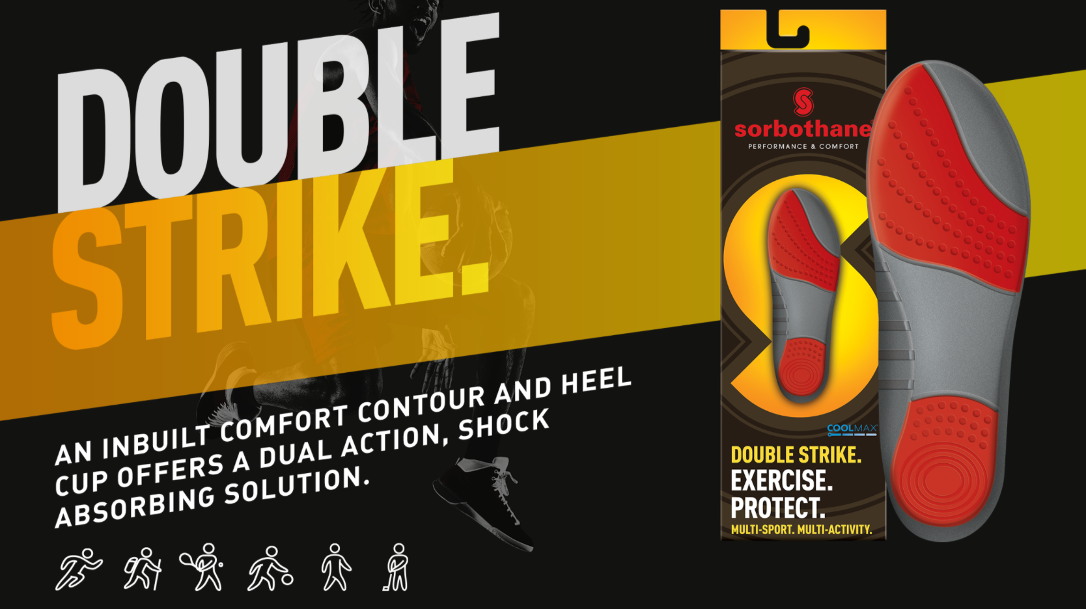 Stødabsorberende såler til forfod og hælen | DS 1