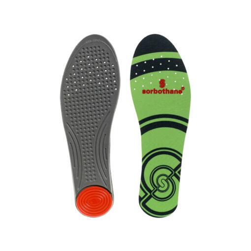 Sorbothane® Single Strike stødabsorberende såler til fodboldstøvler eller andre sko